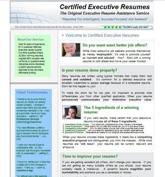 Resume writing service help