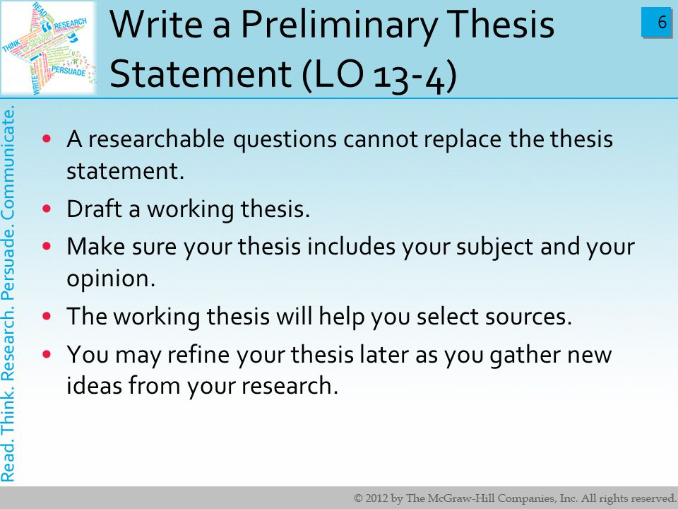Help With Thesis Statements. 24/7 College Homework Help.