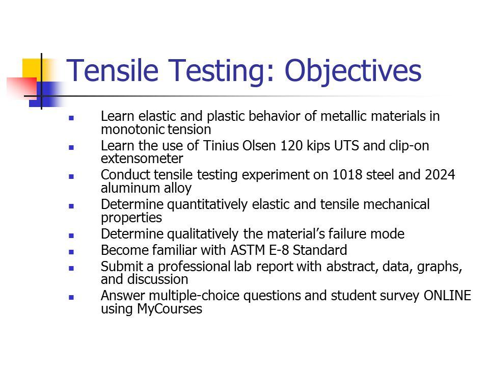 material science lab report tensile creep