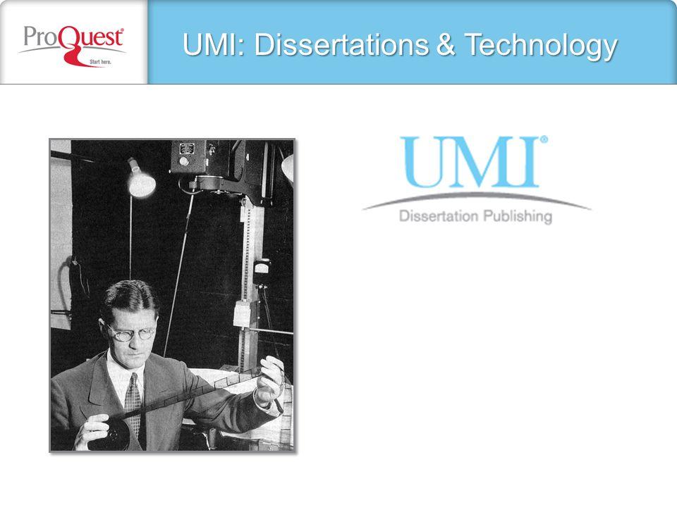 Umi Dissertations