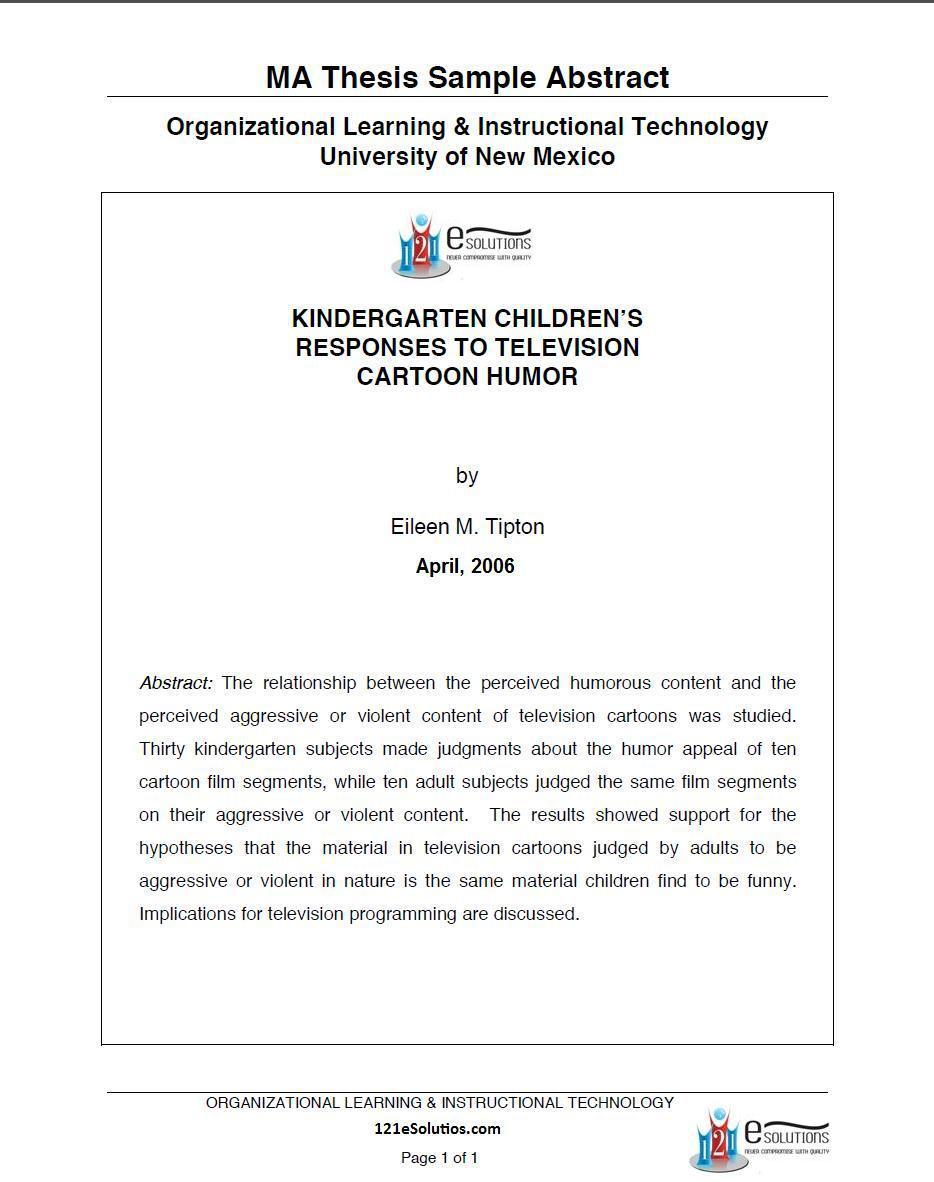 Past dissertations online